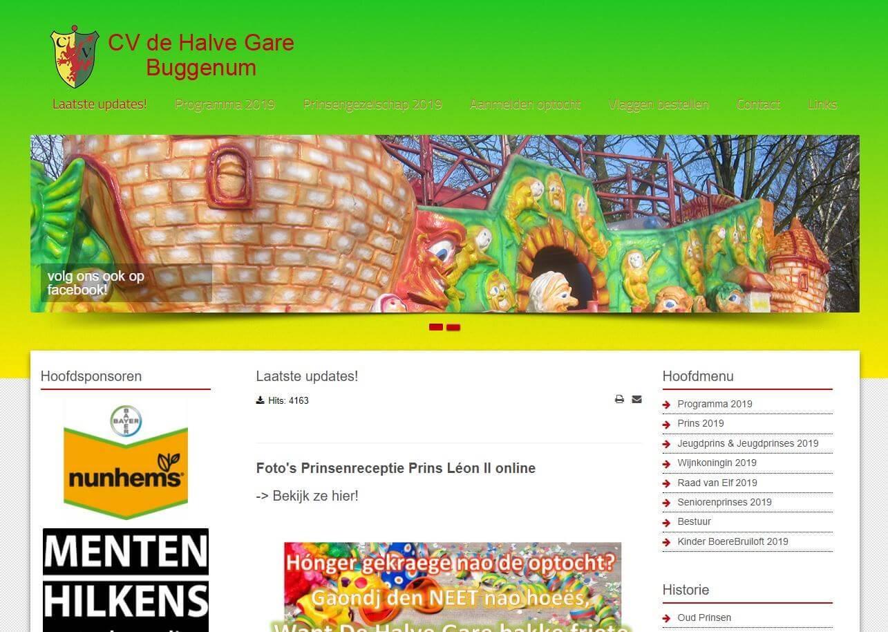 CV de Halve Gare homepage
