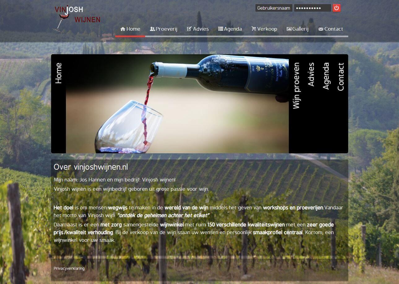 Vinjoshwijnen homepage